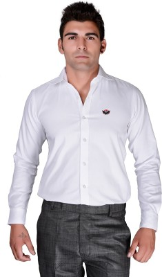 BlackLilly Men's Solid Formal White Shirt