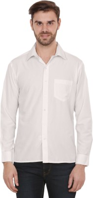 Picasso Fashions Men's Solid Formal White Shirt