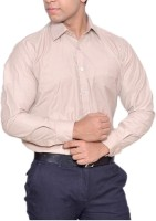 Bsquare Formal Shirts (Men's) - Bsquare Men's Solid Formal Beige Shirt