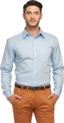Jogur Men's Solid Casual Reversible Blue Shirt