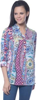 Florrie Fusion Women's Floral Print Casual Multicolor Shirt