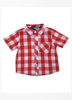 Mothercare Baby Boy's Checkered Casual White, Red Shirt