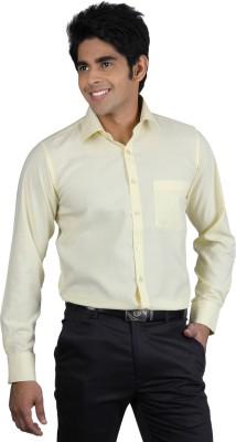 Nexq Men's Solid Formal Yellow Shirt