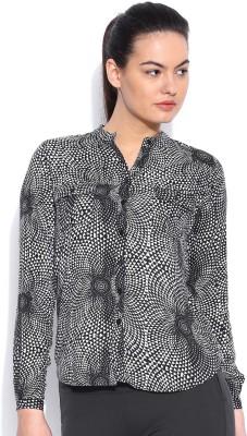 HRX by Hrithik Roshan Women's Printed Casual Black Shirt