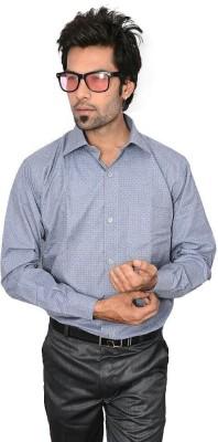 Culture Plus Men's Solid Formal Grey Shirt