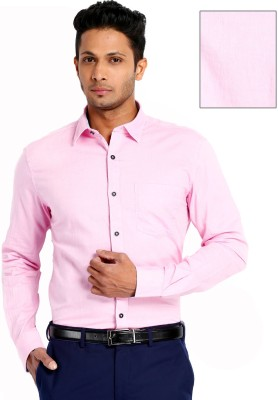 Rv Collection Men's Solid Formal Pink Shirt