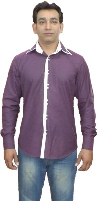 Archini Men's Solid Formal, Party, Wedding Purple Shirt