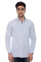 Parv Collections Formal Shirts (Men's) - Parv Collections Men's Striped Formal White Shirt
