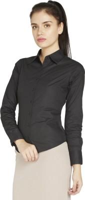 Globus Women's Solid Formal Black Shirt