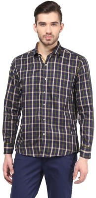 The Vanca Men's Checkered Casual Beige Shirt