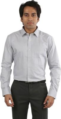 Desar Rana Men's Self Design Formal Grey Shirt
