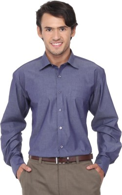 Chairman Men's Solid Formal Blue Shirt