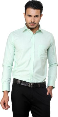 American Cult Men's Solid Formal Reversible Light Green Shirt