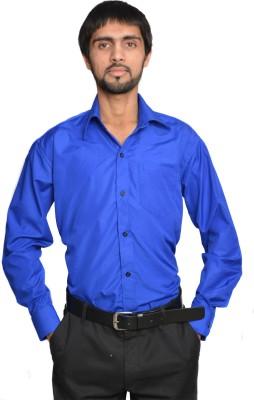 Binnote Men's Solid Formal Dark Blue Shirt