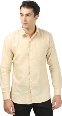 Zavlin Men,s Solid Casual Beige Shirt