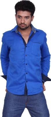 Bleu Men's Solid Casual Blue Shirt