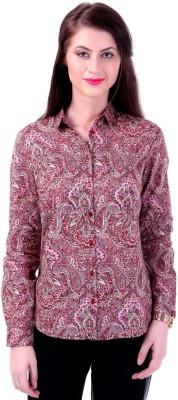 Street 9 Women's Paisley Casual Red Shirt