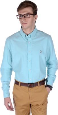 FRANK JEFFERSON Men's Solid Casual Light Blue Shirt