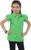 Catmini Girls Checkered Casual Green Shi...