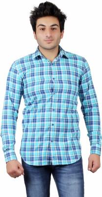 UNDERCUT Men's Self Design Casual Light Blue Shirt