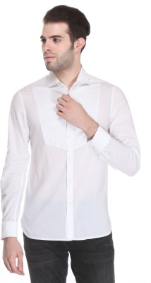 Reevolution Men's Embroidered Casual White Shirt