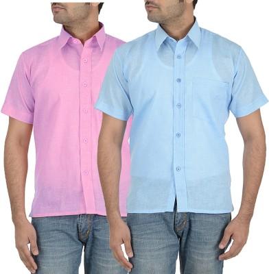 Sai Chikan Men's Solid Casual Multicolor Shirt