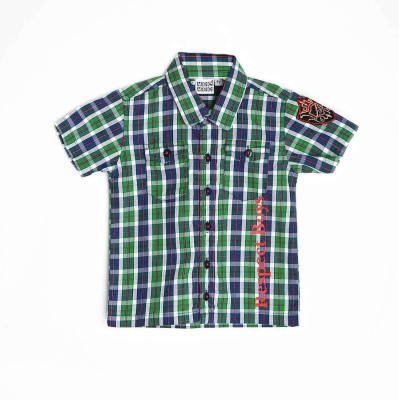 Mee Mee Boy's Checkered Casual Multicolor Shirt