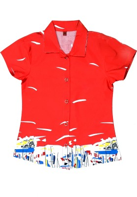 Desire Girl,s Printed Casual Red Shirt