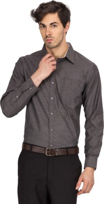 Logo Apparel Men,s Solid Formal Grey Shirt