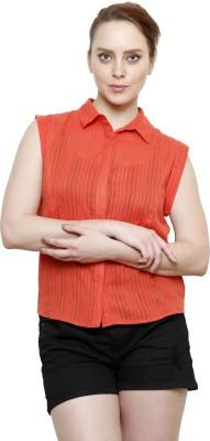 I Am For You Women's Woven Casual Orange Shirt