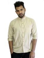Solen Formal Shirts (Men's) - Solen Men's Harringbone Formal Beige Shirt