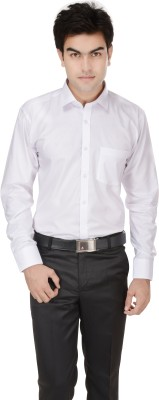 Kalrav Men's Solid Casual, Formal, Party, Wedding White Shirt