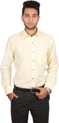 Styllus Men's Solid Formal Yellow Shirt