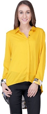 Shiks Vogue Women's Printed Casual Yellow, Multicolor Shirt