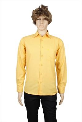 Eco-Solar Garments Men,s Solid Casual Orange Shirt