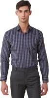 Threadroots Formal Shirts (Men's) - Threadroots Men's Checkered Formal Grey, Purple Shirt