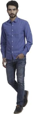Mild Kleren Men's Solid Casual Blue Shirt