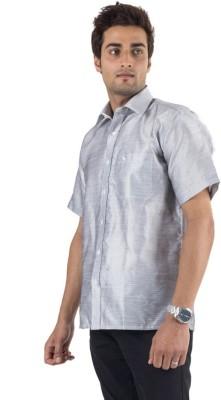 Warrior Men's Solid Casual Grey Shirt