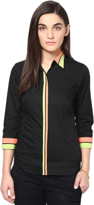 Dazzio Womens Solid Formal Multicolor Shirt