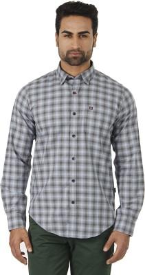 London Fog Men's Checkered Formal Grey, Black Shirt