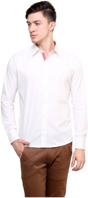 Shreebalajitraders Men's Solid Formal White Shirt