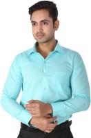 Regza Formal Shirts (Men's) - Regza Men's Checkered Formal Light Blue Shirt