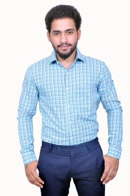 Style In Men's Checkered Casual Green Shirt