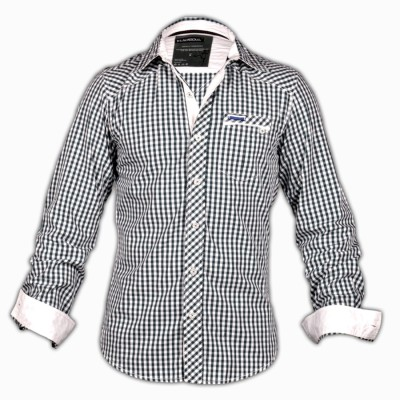 Blacksoul Men's Checkered Casual Black, White Shirt