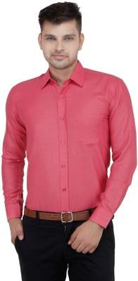 Vkg Men's Solid Formal Red Shirt