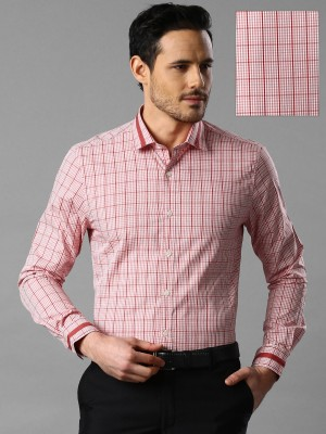 Invictus Men's Checkered Casual Red Shirt