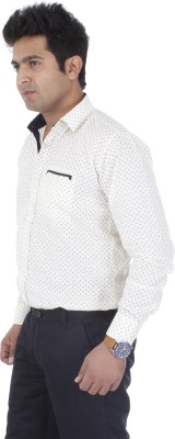 Aces Blue Men's Printed Casual Yellow Shirt