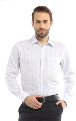 Allen Solly Men,s Checkered Formal White Shirt