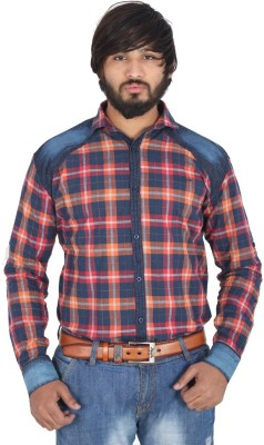 leports Men,s, Boy's Checkered Formal Red Shirt