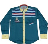 Way2Style Boys Self Design Casual Blue S...